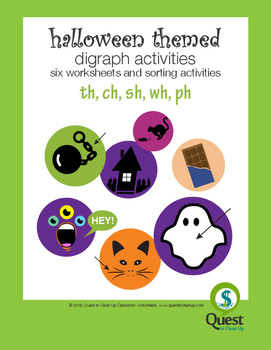 Halloween digraphs: sh, ch, wh, th, ph