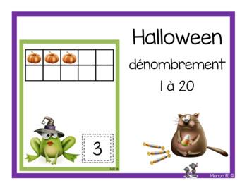Halloween dénombrement 1 à 20