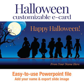 Halloween customizable e-card