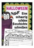 Halloween - eine Geschichte selbst schreiben - Kurzgeschichte Deutsch, German