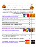 Halloween en Latinoamérica, México, Chile y España. Spanish Listening Activity.