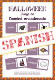 Halloween en español: juego de Dominó encadenado