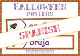 Halloween en español: vocabulary & grammar word wall (SPANISH)