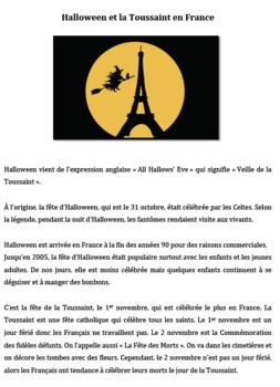 Halloween et la Toussaint en France- Intermediate to Advanced