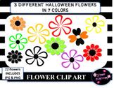 Halloween flowers clipart
