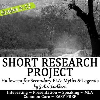 Halloween Short Research Project: Myths, Ghosts, & Legends Media Presentation