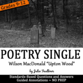 "Halloween Activities, Poetry Lesson, One-Pager ""Upton Wood"""