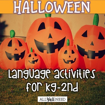 Halloween for Speech and Language Therapy - Younger Elementary