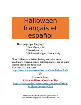 Halloween français et español