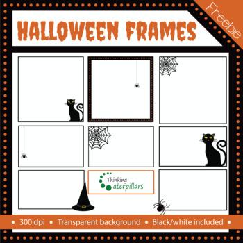 Halloween freebie: Halloween clip art frames