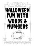 Halloween fun with Words and Numbers