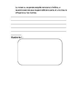 Halloween grammar worksheet: masculine, feminine, and plural changes
