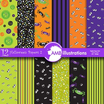Digital Papers, Halloween haunting digital paper and backgrounds, AMB-402
