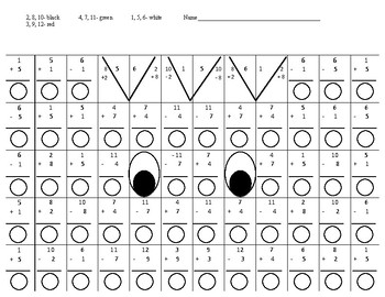 Halloween hidden picture math puzzle #1