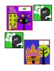 Halloween house word family sorting cards for short E & short O
