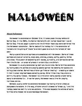 Halloween ideas and activities