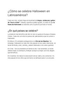 Halloween in Latin America | Spanish Listening Activity | Subs plan