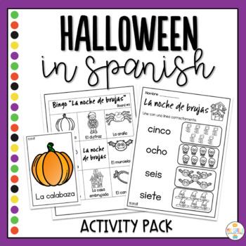Halloween in Spanish Activity Pack - Noche de Brujas