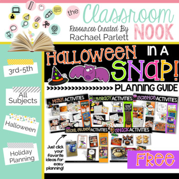 FREEBIE: Halloween in a SNAP! {Planning Guide}