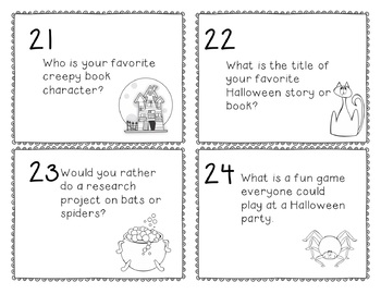 Halloween in the Library! Set of 30 Task Cards - EASY TO USE!