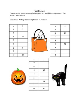 Halloween is Coming-Multiplication Practice for Grades 4 & 5