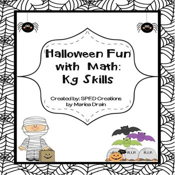 Halloween is Fun: Math Review for Kindergarten Skills