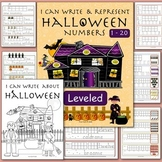 Halloween: Handwriting, Leveled Math, & Literacy. Worksheets or Stations