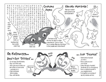 Halloween is Here Two-Page Activity Set