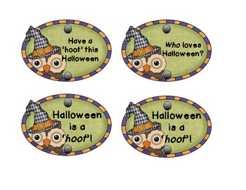 Halloween is a 'hoot' pencil tags