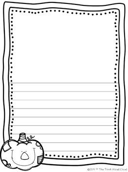Halloween Writing Paper  ~ UNPLUGGED!