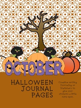 Halloween journal / stationary pages