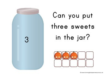 Halloween - lets count and match, prek, preschool