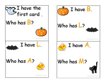 Halloween letter game