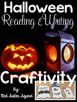 Narrative Halloween leveled reading, writing, and craftivity