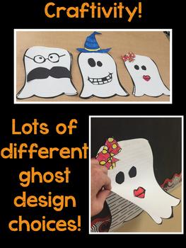 Halloween Narrative leveled reading, writing, and craftivity