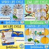 Halloween life cycle science foldouts (pumpkin, spider, ba
