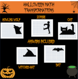 Halloween math: Halloween transformations mystery pictures