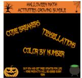 Halloween math activities growing bundle