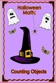 Halloween math counting objects pre-k kindergarten grade 1