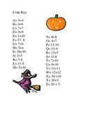 Halloween math fact practice