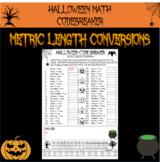 Halloween math - metric length conversions Halloween code breaker
