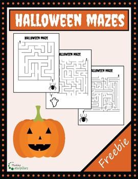 Halloween maze activity