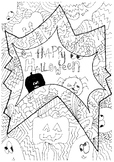 Halloween mindfulness detailed colouring in