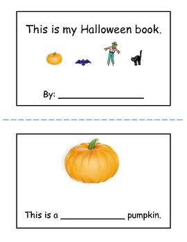 Halloween mini book for K-1 early readers