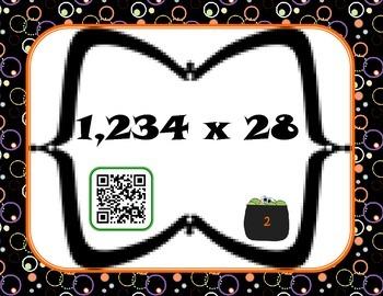 Halloween multiplication centers {matching, Taboo, QR codes}