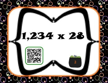 Halloween multiplication centers {matching, Taboo, QR codes}