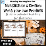Halloween multiplication division booklets Write the Word