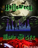 Halloween music and classroom background eerie sounds para