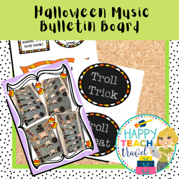 Halloween music bulletin board