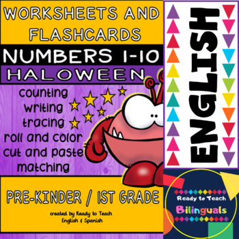 photograph regarding Printable Numbers 1 10 Flashcards identify Halloween no-prep Printables and Flashcards (Figures 1-10)